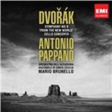 Sinfonia n.9 - Concerto per violoncello - CD Audio di Antonin Dvorak,Antonio Pappano,Orchestra dell'Accademia di Santa Cecilia,Mario Brunello