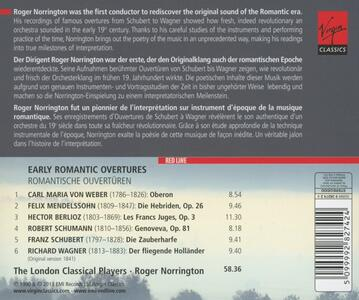 Early Romantic Overtures - CD Audio di Roger Norrington,London Classical Players - 2