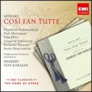 Così fan tutte - CD Audio di Wolfgang Amadeus Mozart,Herbert Von Karajan,Elisabeth Schwarzkopf,Rolando Panerai,Sesto Bruscantini,Nan Merriman