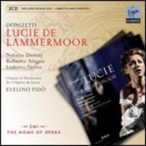 Lucie de Lammermoor - CD Audio di Gaetano Donizetti,Giacomo Puccini,Natalie Dessay,Roberto Alagna,Ludovic Tézier,Orchestra dell'Opera di Lione,Evelino Pidò