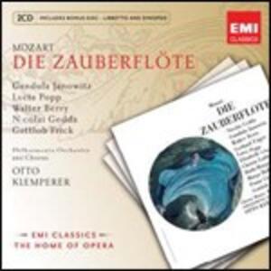 Il flauto magico (Die Zauberflöte) - CD Audio di Wolfgang Amadeus Mozart,Nicolai Gedda,Gundula Janowitz,Lucia Popp,Walter Berry,Gottlob Frick,Otto Klemperer,Philharmonia Orchestra
