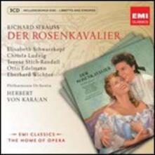 Il cavaliere della rosa (Der Rosenkavalier) - CD Audio di Richard Strauss,Herbert Von Karajan,Christa Ludwig,Elisabeth Schwarzkopf,Eberhard Wächter,Theresa Stich-Randall,Otto Edelmann,Philharmonia Orchestra