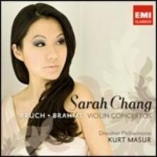 Concerti per violino - CD Audio di Johannes Brahms,Max Bruch,Sarah Chang,Kurt Masur,Dresdner Philharmonie