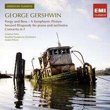 Porgy and Bess - A Symphonic Picture - Rapsodia n.2 per pianoforte e orchestra - Concerto in Fa - CD Audio di George Gershwin,André Previn,London Symphony Orchestra,Cristina Ortiz