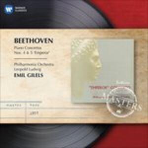 Concerti per pianoforte n.4 - n.5 - CD Audio di Ludwig van Beethoven,Emil Gilels,Philharmonia Orchestra,Leopold Ludwig