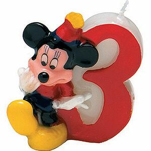 Mickey Party Time. Candelina Numerale N° 3