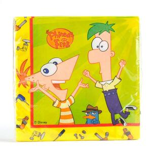 Set 20 Tovaglioli di Carta Phineas and Ferb