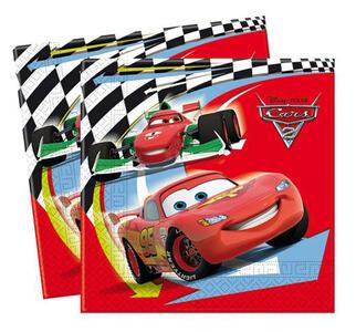 Cars 2. Set 20 Tovaglioli di Carta