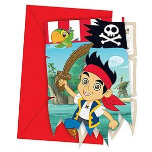 Jake Il Pirata. 6 Biglietti Invito con Busta - 2