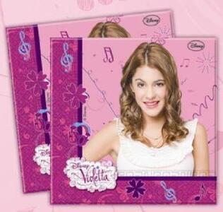 Violetta. Set 20 tovaglioli di carta