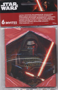 Star Wars. The Force Awakens. 6 Inviti con Busta