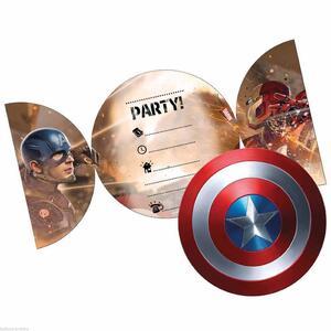Captain America. Civil War. 6 Inviti con Busta - 2
