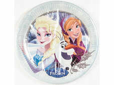 Idee regalo Frozen Winter Hugs. 8 Piatti Carta Giocoplast