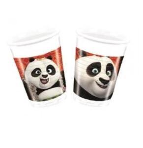 Kung Fu Panda. 8 Bicchieri Plastica 200 Ml