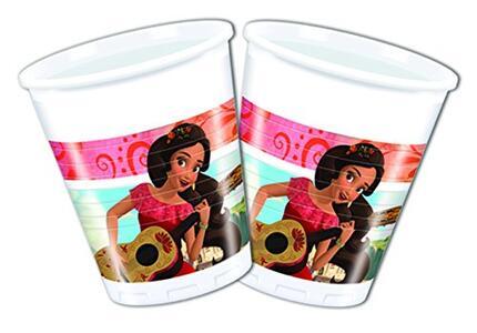 Elena Di Avalor. 8 Bicchieri Plastica 200 Ml.