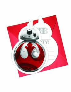 Star Wars The Last Jedi. 6 Inviti Con Busta