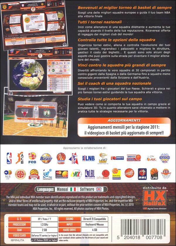 International Basketball Manager Gioco Per Personal Computer