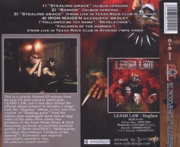 Stealing Grace - CD Audio Singolo di Leash Law - 2