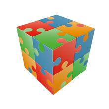 V-Cube Jigsaw 2X2 Piatto