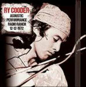 Acoustic Performance Radio Branch 12th December 1972 - CD Audio di Ry Cooder