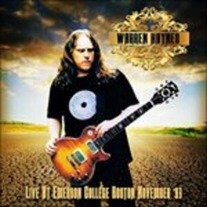Live at Emerson College - CD Audio di Warren Haynes