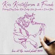 Live at the Record Plant - CD Audio di Kris Kristofferson