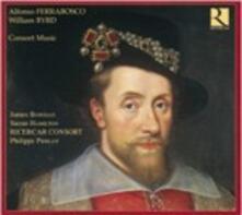 Consort Music - CD Audio di William Byrd,Alfonso Ferrabosco,James Bowman,Suzan Hamilton,Philippe Pierlot,Ricercar Consort