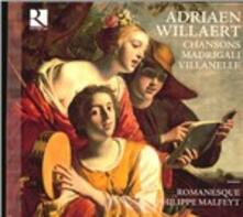 Canzoni - Madrigali - Villanelle - CD Audio di Adrian Willaert