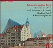 6 Sonate per organo arrangiate per pianoforte a 4 mani - CD Audio di Johann Sebastian Bach