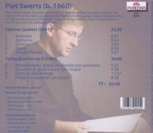 Quartetto per archi n.2 - Quintetto con clarinetto - CD Audio di Piet Swerts
