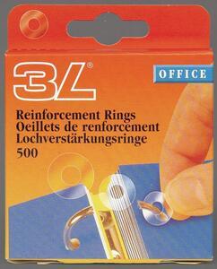 Cartoleria Anelli salvabuchi in PPL. Confezione 500 pezzi 3L Office