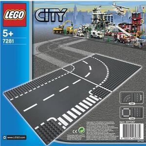 LEGO City (7281). Incrocio a T e curva - 2