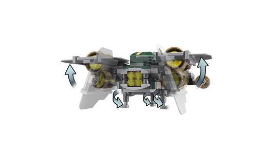 Lego Star Wars. Tie Advanced di Vader contro A-Wing Starfighter - 16