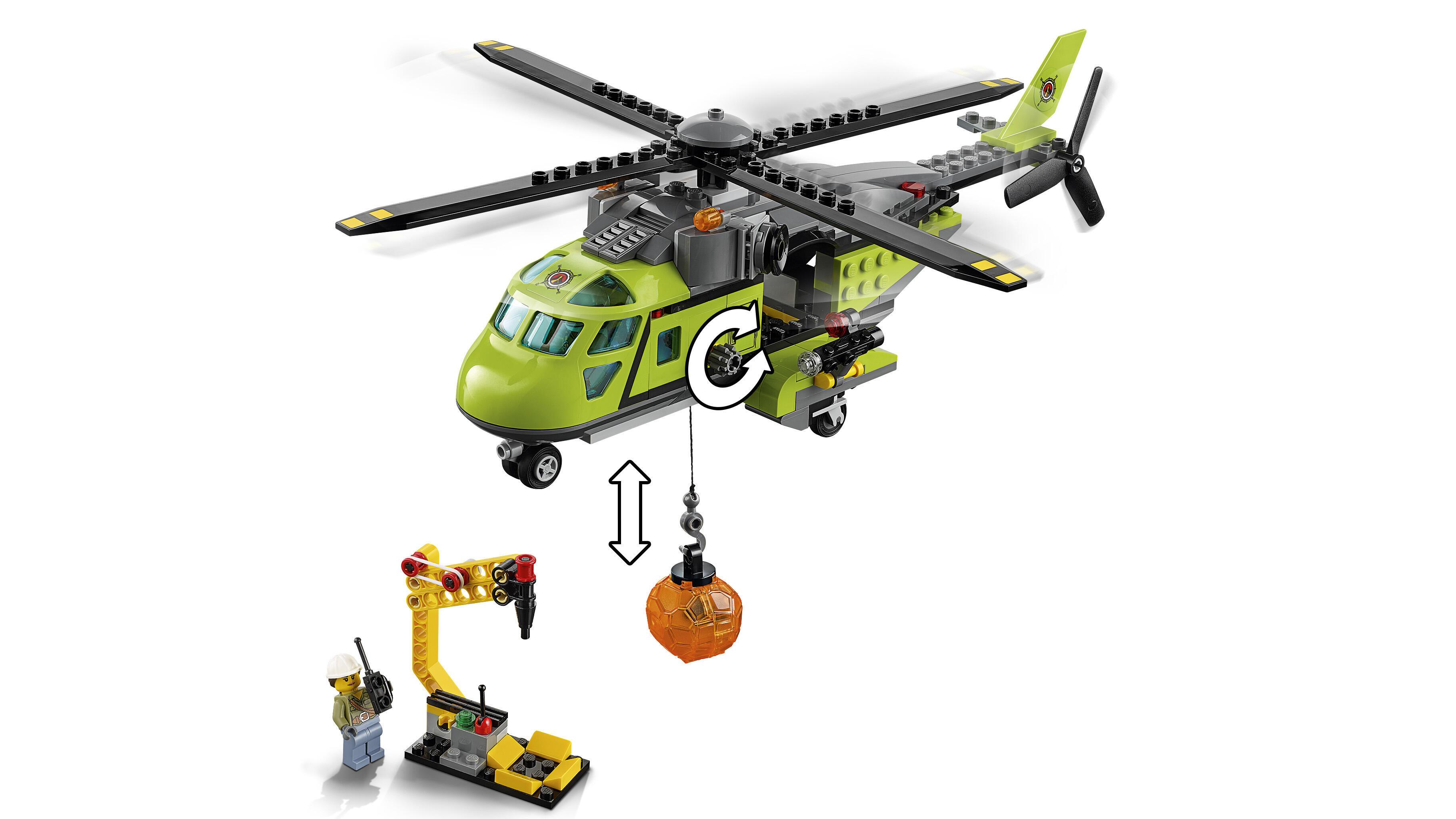 Elicottero In Inglese : Lego city elicottero dei rifornimenti vulcanico