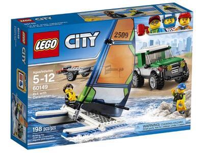 LEGO City Great Vehicles (60149). Pick up 4x4 con catamarano