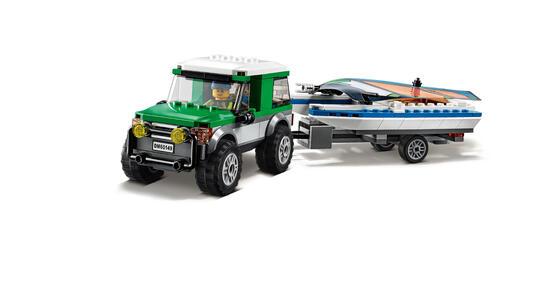 LEGO City Great Vehicles (60149). Pick up 4x4 con catamarano - 3