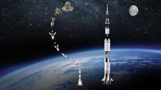 LEGO Ideas (21309). Saturn V Apollo LEGO NASA - 5