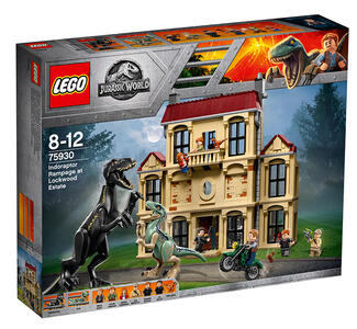 LEGO Jurassic World (75930). Attacco dell?Indoraptor al Lockwood Estate