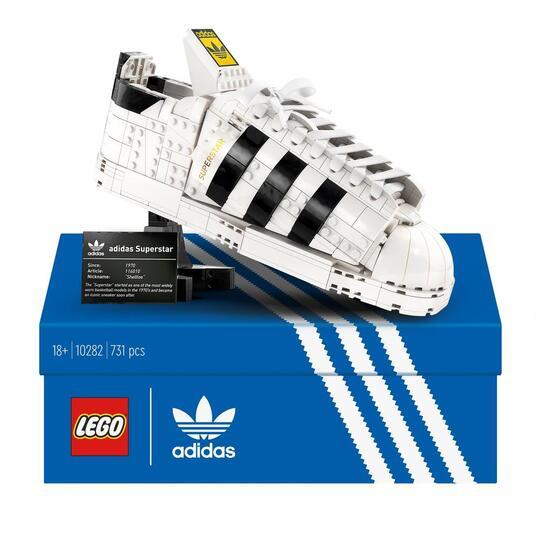 LEGO Icons (10282). Adidas Originals Superstar, Costruzione in Mattoncini, Sneaker da Collezione per Adulti