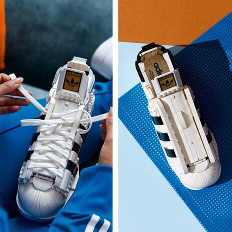 LEGO Icons (10282). Adidas Originals Superstar, Costruzione in Mattoncini, Sneaker da Collezione per Adulti - 4