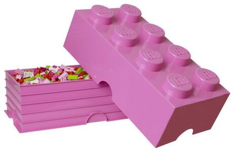 Contenitore LEGO Brick 8 Fucsia