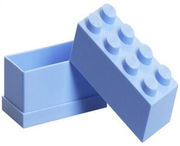 Contenitore LEGO Mini Box 8 Azzurro - 2