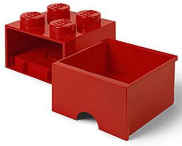 Contenitore LEGO Brick 4 Cassetto Rosso