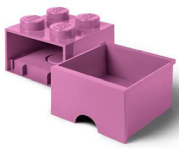 Contenitore LEGO Brick 4 Cassetto Rosa