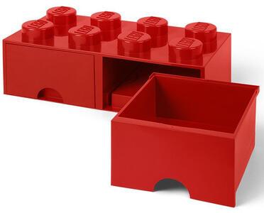 Contenitore LEGO Brick 8 Cassetto Rosso