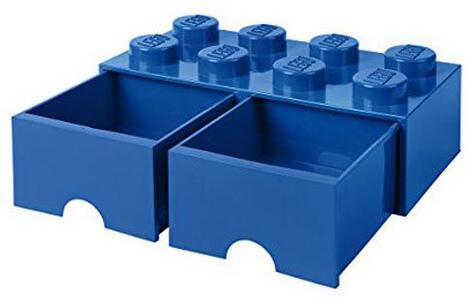 Contenitore LEGO Brick 8 Cassetto Blu