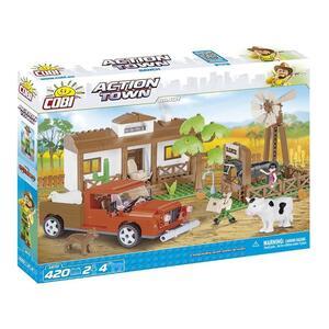 Il Ranch Action Town Gioco Di Costruzioni Cobi 1870 420 Pz *02606 - 2