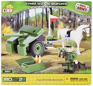 Costruzioni Cobi. Small Army 2184. 37 Mm Wz. 36 Cannone Bofors 80 - 7