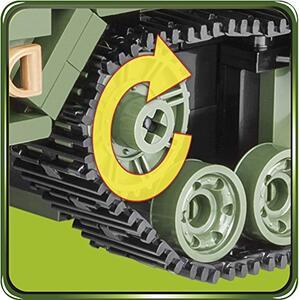 Costruzioni Cobi. Small Army 2499. M16 Half-Track 500 - 15