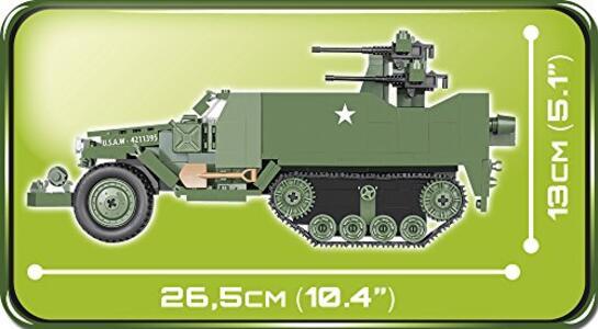 Costruzioni Cobi. Small Army 2499. M16 Half-Track 500 - 16